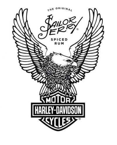 Sailor Jerry Spiced Rum partnership with Harley-Davidson logo